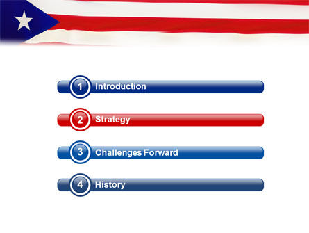 Flag of Puerto Rico PowerPoint Template, Slide 3, 02074, Flags/International — PoweredTemplate.com