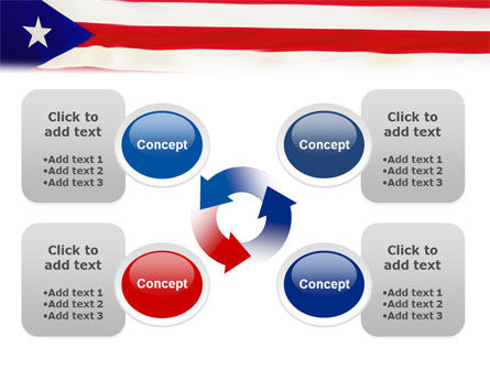 Flag of Puerto Rico PowerPoint Template Slide 9