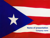 Flags/International: Modello PowerPoint - Bandiera di porto rico #02074