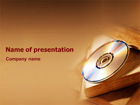 CD Disc PowerPoint Template, 02076, Education & Training — PoweredTemplate.com