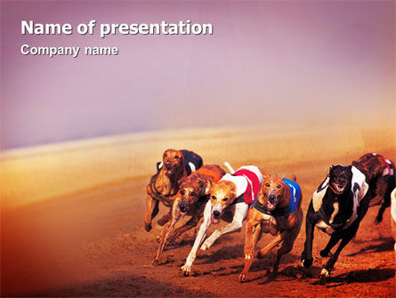 Dog Racing PowerPoint Template, 02077, Sports — PoweredTemplate.com