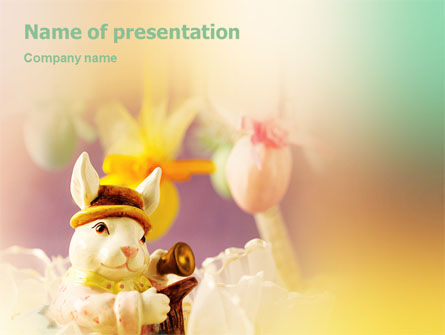 Holiday/Special Occasion: Easter Rabbit PowerPoint Template #02078
