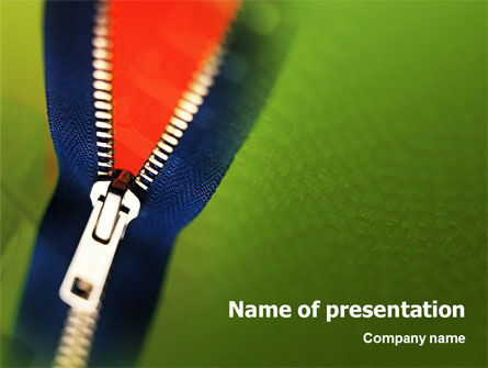 Zipper PowerPoint Template, 02082, Careers/Industry — PoweredTemplate.com