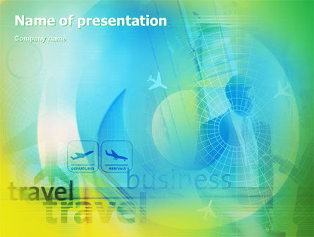 Cars and Transportation: Air Travel PowerPoint Template #02083