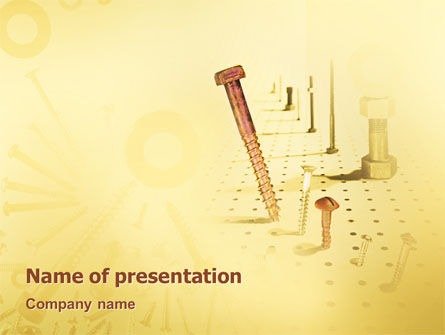 Ironware PowerPoint Template, 02084, Utilities/Industrial — PoweredTemplate.com