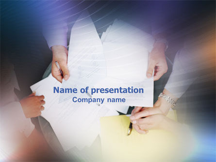 Business: Business Documents PowerPoint Template #02085