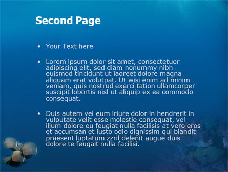 Fishing Life Underwater PowerPoint Template, Slide 2, 02089, Nature & Environment — PoweredTemplate.com