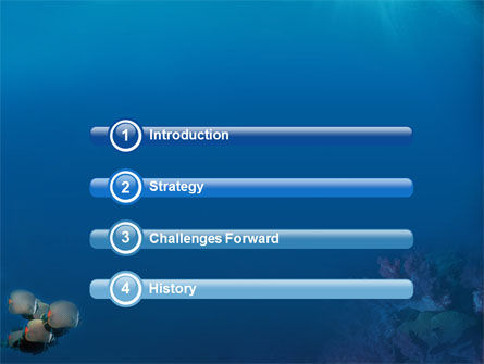 Fishing Life Underwater PowerPoint Template, Slide 3, 02089, Nature & Environment — PoweredTemplate.com