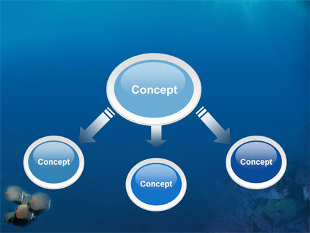 Fishing Life Underwater PowerPoint Template, Slide 4, 02089, Nature & Environment — PoweredTemplate.com