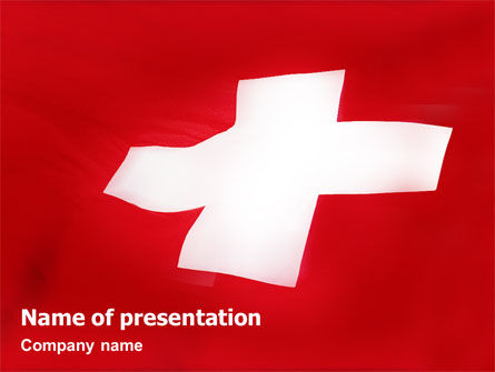 Flags/International: Templat PowerPoint Bendera Swiss #02090