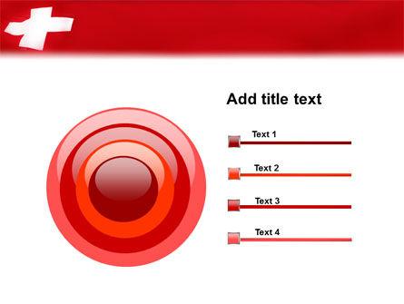 Flag of Switzerland PowerPoint Template Slide 9