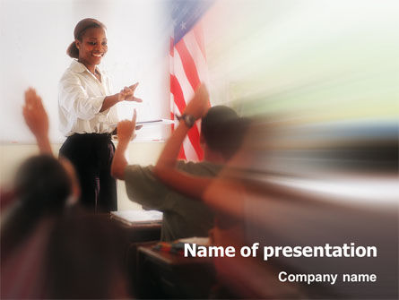 Education & Training: Schoolroom PowerPoint Template #02092