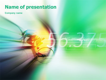 Sports: Bicycle Racing PowerPoint Template #02093