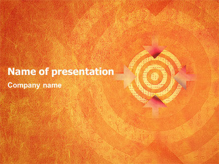 Target PowerPoint Template, 02098, Business Concepts — PoweredTemplate.com