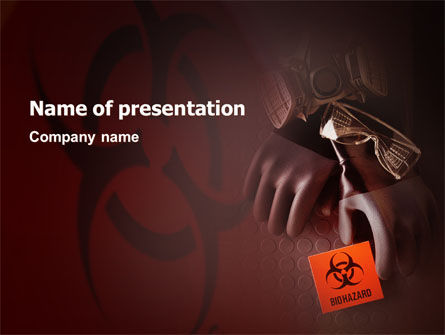Hazardous Production PowerPoint Template, 02099, Utilities/Industrial — PoweredTemplate.com