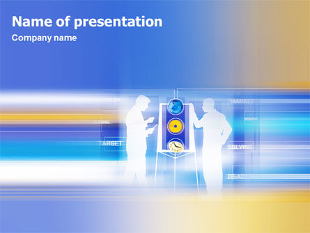 Aim PowerPoint Template, 02100, Business — PoweredTemplate.com