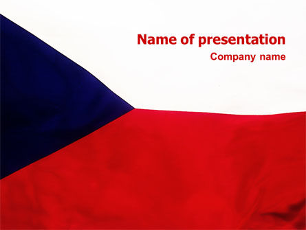 Flags/International: Flag of Czech Republic PowerPoint Template #02102