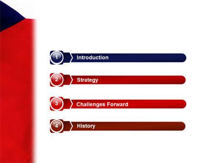 Flag of Czech Republic PowerPoint Template, Slide 3, 02102, Flags/International — PoweredTemplate.com