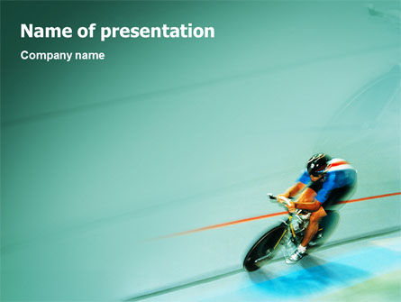 Track Cycling PowerPoint Template, 02103, Sports — PoweredTemplate.com