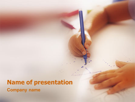 Child Learning PowerPoint Template, 02106, Education & Training — PoweredTemplate.com
