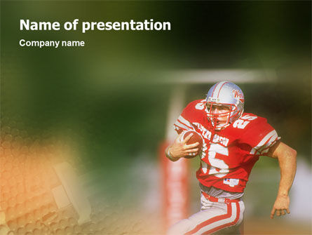 American Footballer PowerPoint Template, 02107, Sports — PoweredTemplate.com
