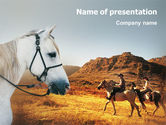 Agriculture: Riding PowerPoint Template #02108