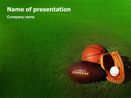 Sports: Balspel PowerPoint Template #02110