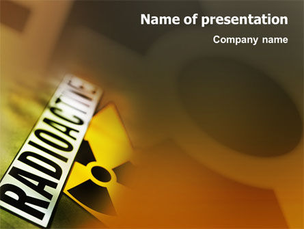 Technology and Science: Radioactive PowerPoint Template #02111