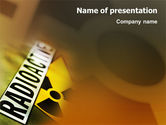 Technology and Science: Radioactieve PowerPoint Template #02111