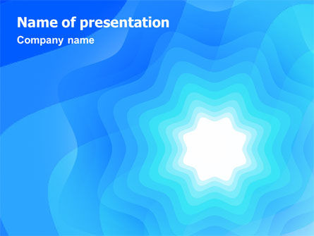 Aqua Colored PowerPoint Template