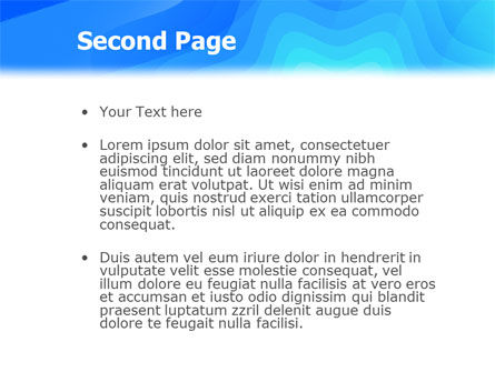 Aqua Colored PowerPoint Template Slide 2