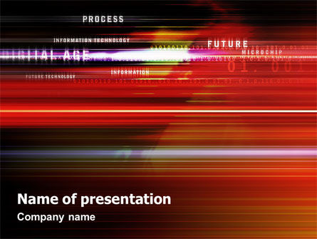 Technology and Science: Plantilla de PowerPoint - proceso abstracto en movimiento #02113