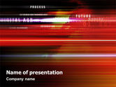 Technology and Science: Abstract Process In Movement PowerPoint Template #02113