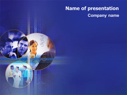 Business Relations In A Corporation PowerPoint Template