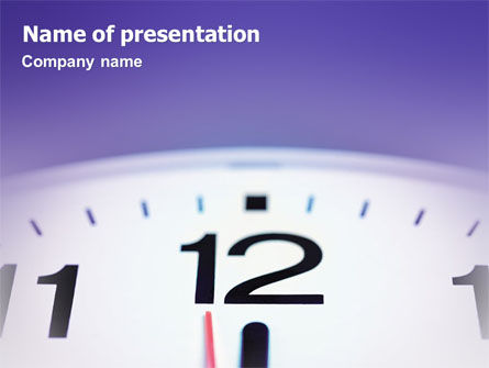 Business Concepts: Clock PowerPoint Template #02115