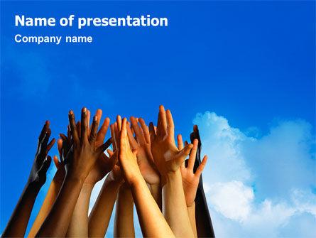 Religious/Spiritual: Modello PowerPoint - Bambini mani #02117