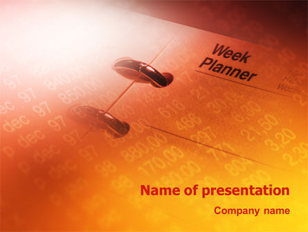 Business Diary PowerPoint Template, 02118, Consulting — PoweredTemplate.com