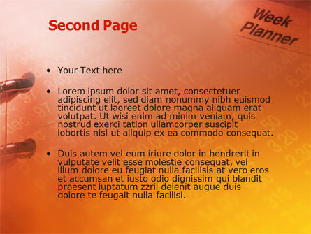 Business Diary PowerPoint Template Slide 2