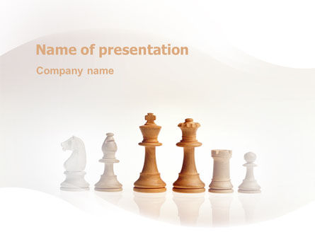 Business Concepts: Main Chess Figures PowerPoint Template #02120