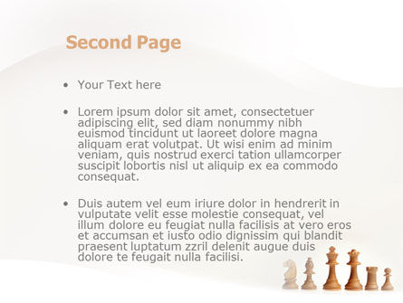 Main Chess Figures PowerPoint Template, Slide 2, 02120, Business Concepts — PoweredTemplate.com