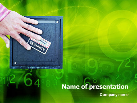 Security PowerPoint Template, 02121, Technology and Science — PoweredTemplate.com