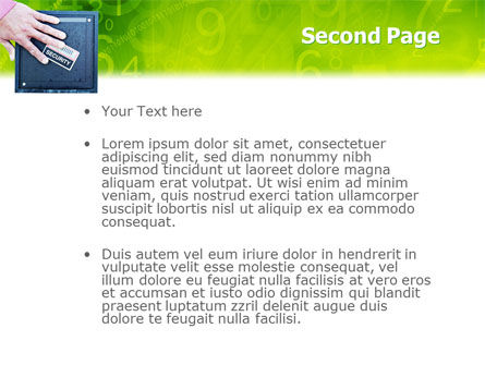 Security PowerPoint Template, Slide 2, 02121, Technology and Science — PoweredTemplate.com