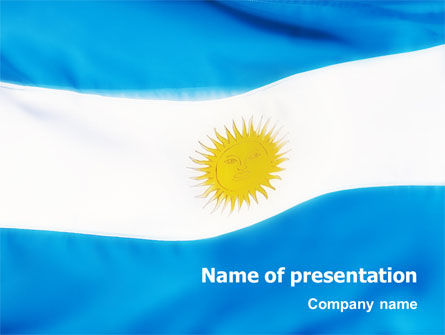 Flag of Argentine Republic PowerPoint Template, 02123, Flags/International — PoweredTemplate.com