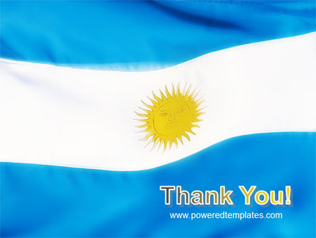 Flag of Argentine Republic PowerPoint Template Slide 20