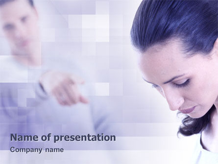 Consulting: Humiliation PowerPoint Template #02124