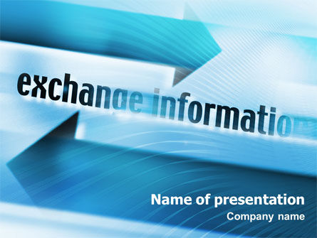 Telecommunication: Information Exchange PowerPoint Template #02125