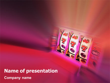 Slot Machine PowerPoint Template, 02126, Careers/Industry — PoweredTemplate.com