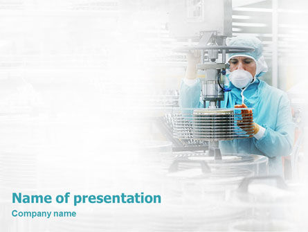 Technology and Science: Manufacturing PowerPoint Template #02127