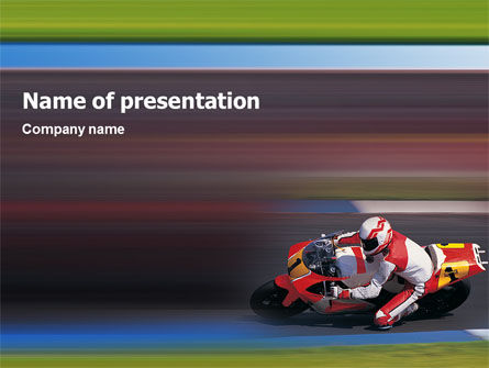 Super Bike PowerPoint Template, 02129, Sports — PoweredTemplate.com