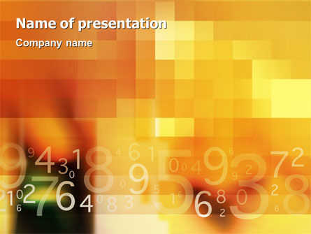 Abstract Digital PowerPoint Template, 02130, Technology and Science — PoweredTemplate.com